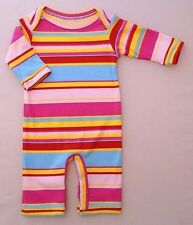 0-3m Baby Girls Cotton Sleepsuit Babygrow Playsuit Summer Footless Handmade