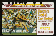 1994 Hawthorn Membership Season Card Hawks ticket