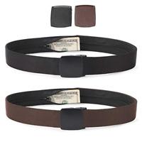 JASGOOD Men Belt Travel Security Money Belt with Hidden Money Pocket Anti-Theft