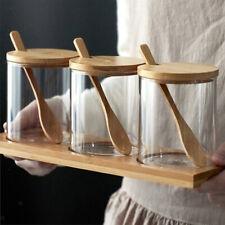 Glasgefäße mit Deckel Gewürzbehälter Vorratsgefäße Kanister Organizer