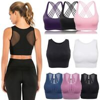 Sports Bra Yoga Fitness Seamless Comfort Bra Crop Top Vest Shapewear Stretch YJ