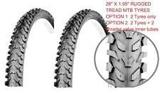 2 Bicycle Tyres Bike Tires - Mountain Bike - 26 x 1.95 - High Quality, 2 options