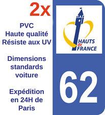 Stickers Autocollant Adhésif Département 62 Nord Haut de France immatriculation