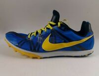 Nike Zoom Waffle Racer 8 Men's Track Shoes 453972-471 Blue Yellow Size 12
