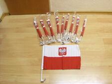 Fahnen Flagge 10 x Polen Auto Wappen Fahne - 30 x 45 cm