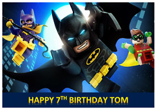 BATMAN LEGO PERSONALISED Edible A4 Cake Icing Sheet Topper Images