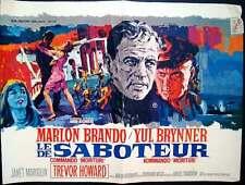 MORITURI Belgian movie poster MARLON BRANDO YUL BRYNNER 1965 RAY ELSEVIERS Art