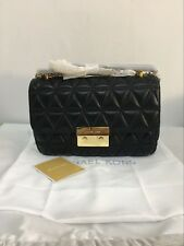 Last Stock MICHAEL KORS BLACK GOLD SLOAN LARGE QUILTED-LEATHER SHOULDER BAG