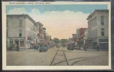 Postcard BUCYRUS Ohio/OH  Commercial Area Business Storefronts 1910's