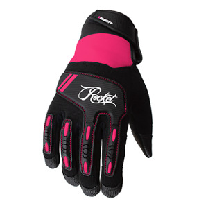 JOE ROCKET WOMENS VELOCITY 3.0 MESH PINK MOTORCYCLE GLOVES X-LARGE TOUCH FINGER