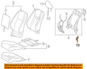 Lexus TOYOTA OEM 16-18 IS300 Driver Seat-Recline Cover Left 7187660210C0