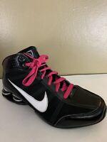 Womens NIKE SHOX ZOOM AIR DREAM Black/White Basketball Shoes - Size US 9