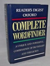 Complete Wordfinder Oxford Dictionary Thesaurus Reference Write Readers Digest
