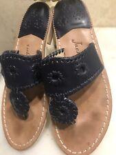 Jack Rogers Navy Blue Slip-on Thong Flip Flops Women's Size 7