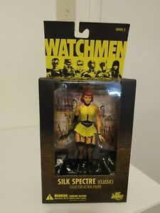 "Watchmen Classic Silk Spectre 7"" Figure Movie Alan Moore Gibbons DC New Unopened"