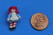 Miniature Crochet Raggedy Ann Doll Dollhouse Crossland 1:24 Artist
