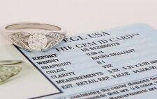 0.70 ct 18K White Gold Round Diamond Engagement Ring EGL H-I / VS2 Rtl $4,500