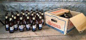 Hamm's Beer 7 Oz Bottles Cardboard Case Box, Vintage Beer Advertising, Sign