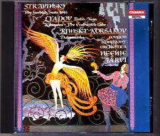 Neeme JÄRVI: STRAVINSKY L'Oiseau de Feu Suite LYADOV Kikimora Enchanted Lake CD