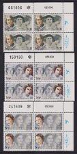 ISRAEL 1991 FAMOUS WOMEN Bluwstein Goldberg Aaronsohn Plate Block Set #1076-1078
