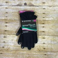 Isotoner SmarTouch 2.0 Touch Screen Compatible Gloves Womens Sz M/L Black