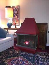 VINTAGE MID CENTURY MODERN ELECTRIC WALL HANGING FAUX FIREPLACE HEATER WARDS