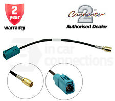 Fakra Female to SMB Female CT27AA162 In car radio aerial adapter cable lead DAB