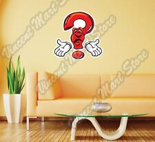 "Question Mark Creativity Test Answer Wall Sticker Room Interior Decor 20""X25"""