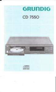 Grundig Bedienungsanleitung User Manual für CD 7550 deutsch komplett  Copy