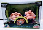 Sharper Image Remote Control Sumo King Wrestler Set  TESTED Works
