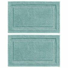 "mDesign Soft Microfiber Non-Slip Spa Mat Rug, 34"" x 21"", 2 Pack - Aqua Blue"