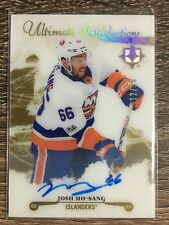Josh Ho-Sang 2017-18 Ultimate Collection Ultimate Introductions Auto Gold #12/99