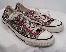 Converse All Star gray red white Soccer Ball lace tennis Shoes Sneakers M7 W 9