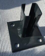 Bodenplatte, Fussplatte für  Zaunpfosten 40 x 40 mm anthrazit Doppelstabmatte