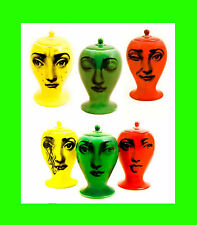 3 fornasetti piero tema variazioni limited edition of 10 p. bitossi vase ceramic