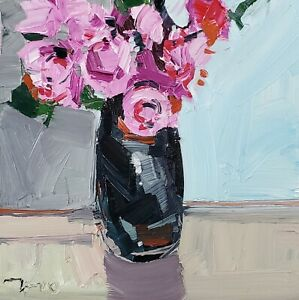 JOSE TRUJILLO Oil Painting IMPRESSIONISM MODERN CONTEMPORARY ROSES FLOWERS
