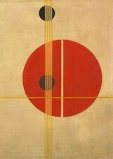 """Laszlo Moholy-Nagy """"Q1"""" Vintage Bauhaus constructivisme Affiche 250gsm"""