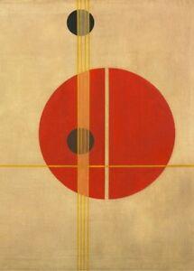 """LASZLO MOHOLY-NAGY  """"Q1"""" Vintage Bauhaus Constructivism 200gsm Poster"""
