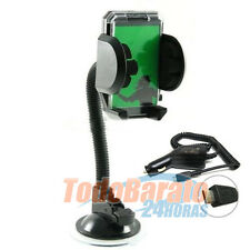Soporte Coche CON BRAZO + cargador mechero para  LG OPTIMUS L3 L5 L7 L9 HUB SOL
