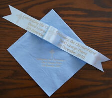 150 Personalised Napkins for Christening + 1mtr ribbon