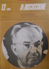 La Discussione 13 1969 Settimanale politico fondato da Alcide De Gasperi - Husak