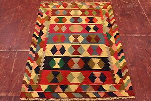 Feiner Nomaden Kelim Unikat Perser Teppich Orientteppich 1,35 X 1,00