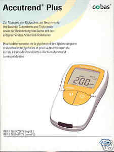 Accutrend Plus Lactate And Cholesterol Meter New+Boxed