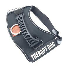 ALBCORP Reflective Black Dog Harness Nylon Therapy Dog Vest Medium