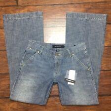 Calvin Klein Trouser Fit Jeans Size 6 Womens Flare Leg 100% Cotton