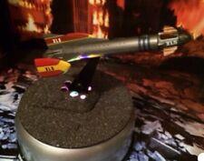 Fireball XL5 Rocket Model Display - Meteorite Dust Coated Lighted Rare