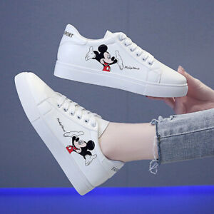 Disney Women Flat Sneakers Summer Slip-On Flat Shoes Mickey Mouse Sports shoes