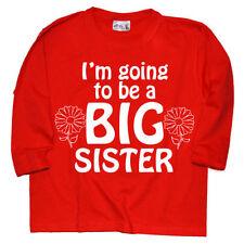 Vêtements T-shirt rouge manches longues pour fille de 2 à 16 ans
