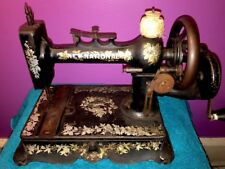1890's HAND CRANK SEWING MACHINE NEW NATIONAL-ANTIQUE NEW HOME-LIGHT RUNNING