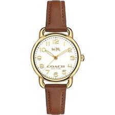 Coach Delancey Brown Strap Gold Tone Case Women's Watch 28mm 14502248 $250